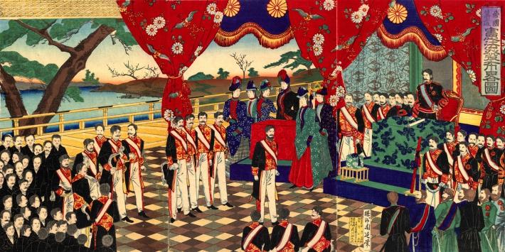 2月11日 大日本帝国憲法公布:1889年